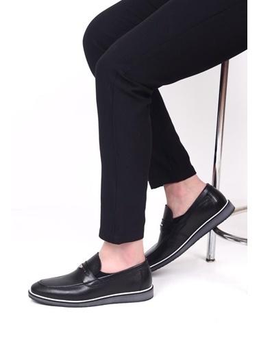James Franco 493 Günlük Erkek Deri Ayakkabı Lacivert